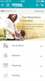 Get Started with our Registry Checklist画面