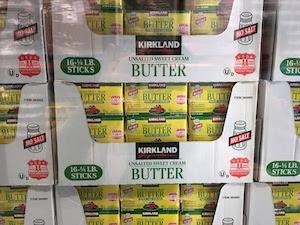 アメリカCOSTCOの無塩バター