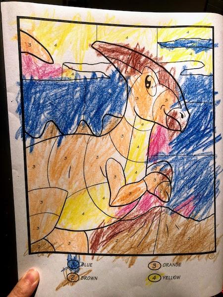 恐竜の塗り絵