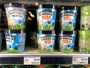 アメリカのBen & Jerryアイスクリーム