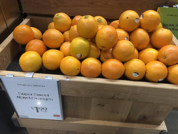 ホールフーズのオレンジ